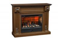 Каминный комплект Athena 3D FOG 34 (канадский дуб) с электрокамином с 3D эффектом живого пламени Alex Bauman 3D Fog 34 с пультом Д