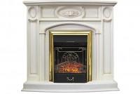 Каминокомплект Florence (белый дуб) с очагом Royal Flame Majestic FX Brass (со звуком)