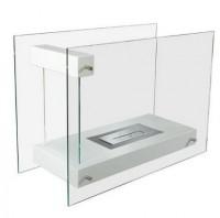 Напольный стеклянный биокамин Kratki LINATE/White