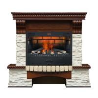 Каминный комплект Kingstone 3D FOG 25 (дуб античный) с электрокамином с 3D эффектом живого огня Alex Bauman 3D Fog 25 (без обогрева)