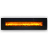 Электрокамин настенный Genius 240 (черное стекло)